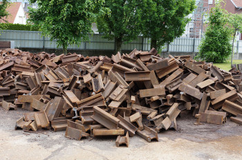 Steel recycling material